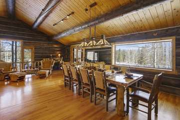 Expansive dining area with fantastic views