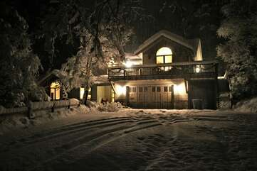 Riverbend on a Snowy Night