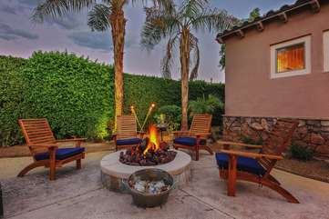 Natural gas fire pit means NO propane tanks running out