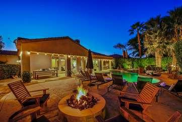 Enjoy the desert nights around the firepit