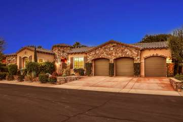 Melrose Place is a large 3,400+ sq ft one story 5 bedroom home with a detached casita guest house in an upscale gated community