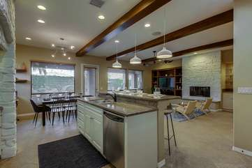 Dishwasher and convenient sink on the center island