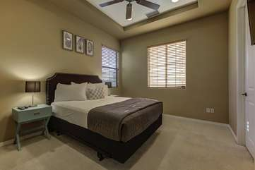 Bedroom 4 has a Queen size bed and large TV