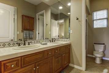 Bathroom 4 is a Jack & Jill bathroom shared by bedroom 4 & 5 with separate doors. Bathroom 4 Full Bath