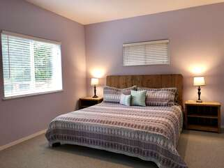 Lakeshore Retreat Bedroom with King bed and ensuite bath