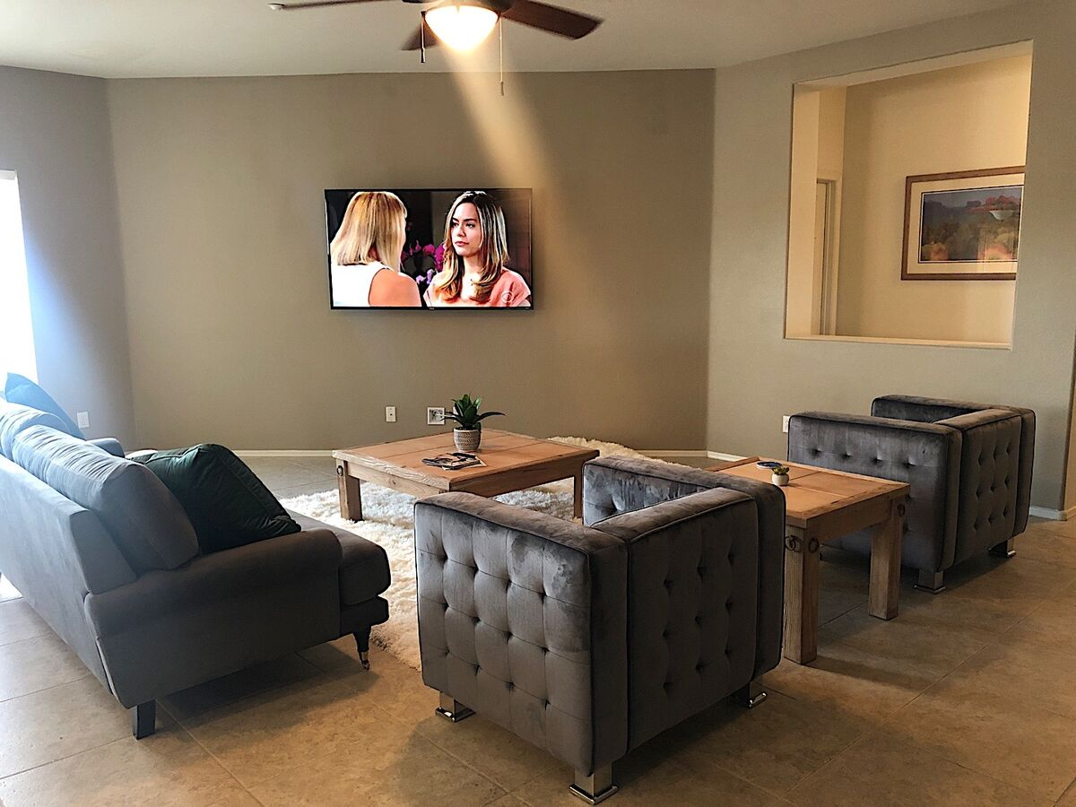 Large Flat screen and open layout!