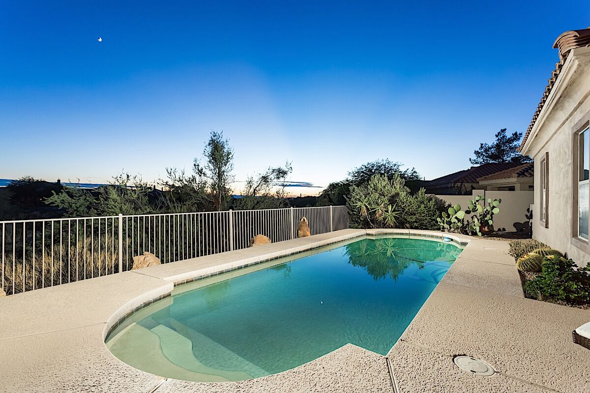 Large private pool over looking the Legend Golf Course