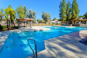 Community area that includes large pools and spas is clean and well maintained