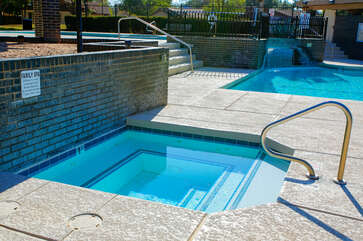 Hot tubs in friendly community offer the ultimate in relaxation and tranquility