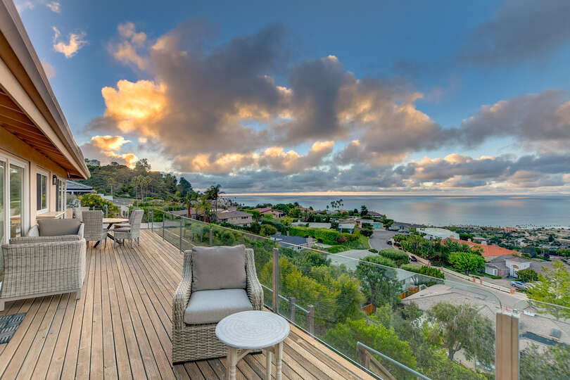 From the master suite you'll find easy access to the balcony and this view awaiting you!