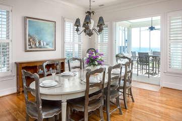Dining Room- Seats 8