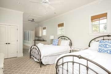 1st Floor Bedroom with 2 Queen Beds and En Suite Bathroom