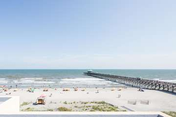 View of Folly Pier from Roof Top Deck