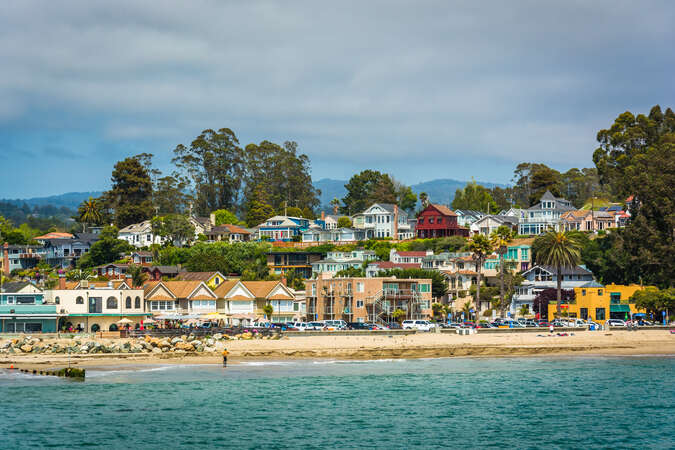View of Capitola Beach fro the Wharf
