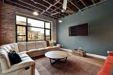 Brazos Loft | Living RoomSeating for 12