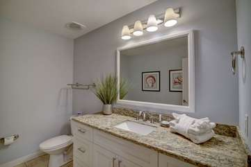 Gorgeous guest half bathroom