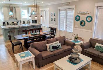 Open Floor Plan - Living, Dining, Kitchen