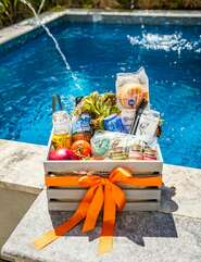 Don't worry about planning your family BBQ - we've got ya covered!  Purchase one of BBQ Hampers full of all our local favorites at check-out and one of our concierge members will have it ready for your arrival.