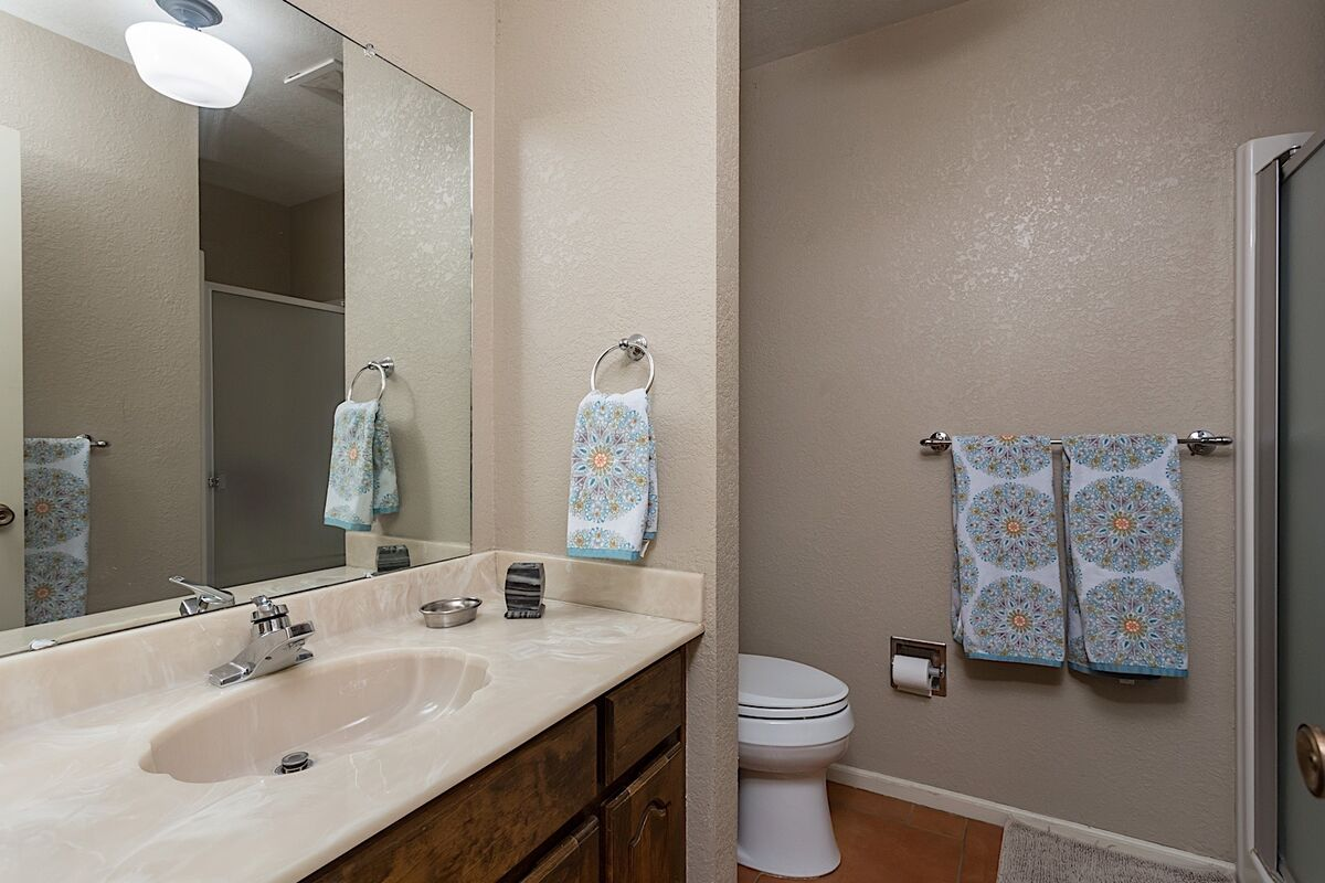Guest Bathroom - Single Vanity w/ Stand Alone Shower