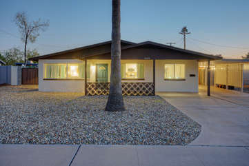 This newly remodeled one story home offers comfortable resort living for families or couples
