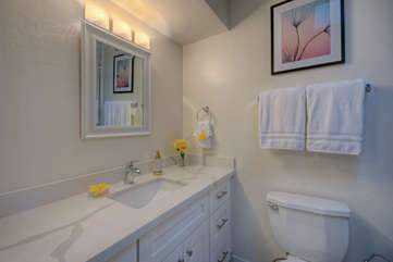 The second bathroom is shared by second, third and fourth bedrooms