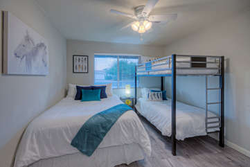 All bedrooms have comfy beds and are decorated to invite peaceful slumber