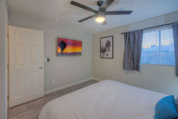 All bedrooms have ceiling fans to keep guests comfortable in all temps