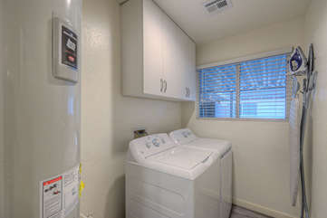A dedicated laundry room helps minimize time spent on laundry chores so there's more time for fun activities