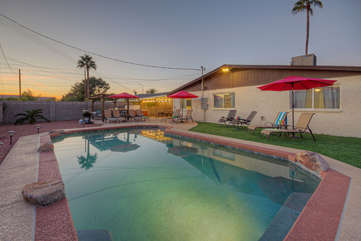 This delightful backyard oasis with a pool (heating is optional), hot tub and outdoor fridge could be yours to enjoy when you come to Scottsdale