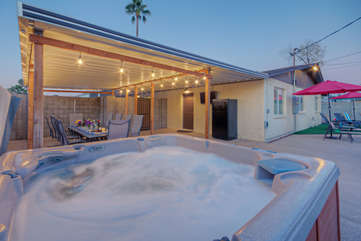 Imagine yourself enjoying this moment in your own private hot tub