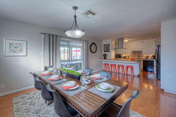 Open to the kitchen is a dining area with seating for 8 when you're in the mood for healthy, home-cooked meals