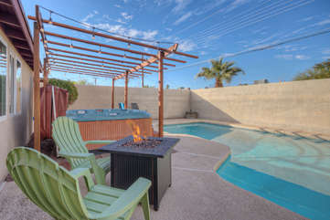 Enclosed backyard with a pool (unheated), spa and a charming gazebo will be your favorite place to hangout on sunny days