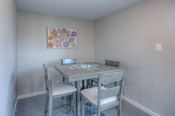 Breakfast nook is an additional area to sip coffee or enjoy a full course meal