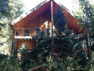 Nestled in the trees this cabin is the perfect place to spend your vacation.