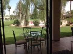 Sliding door view of Pool