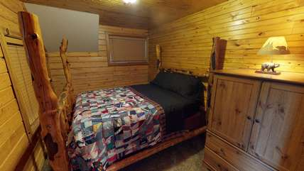There is also another queen bedroom located upstairs.