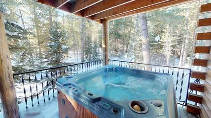 The best part-the hot tub!