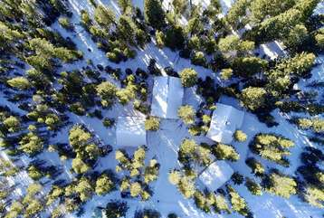 Aerial view of Big Bear.