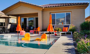Pool and Rear Patio with Luxury Furniture