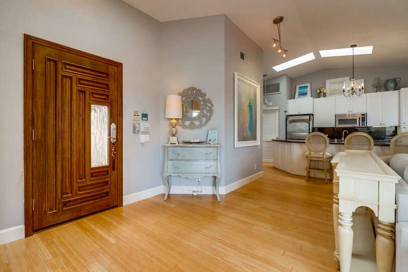 You'll love the character of the front door and charming foyer area
