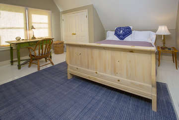 Roomy upstairs bedroom ready for you to settle in and make it yours