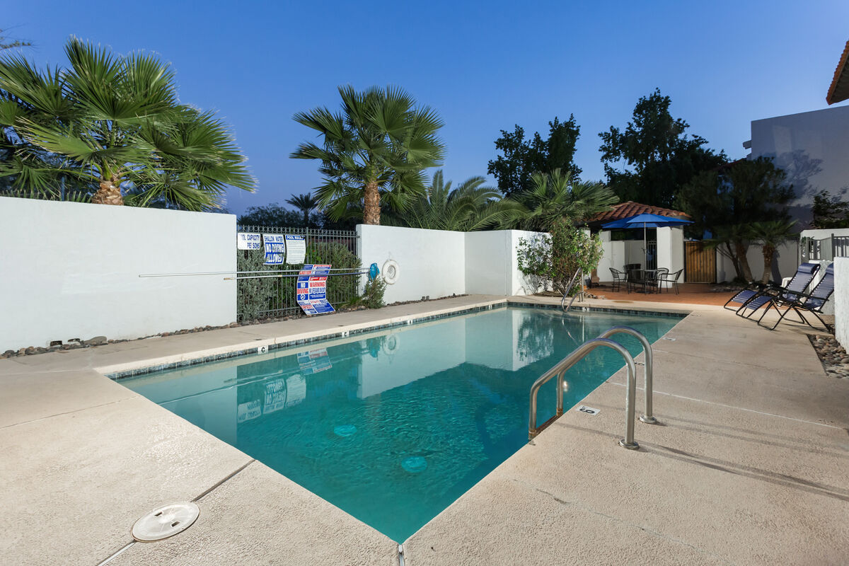 Your patio opens to the community pool (unheated)