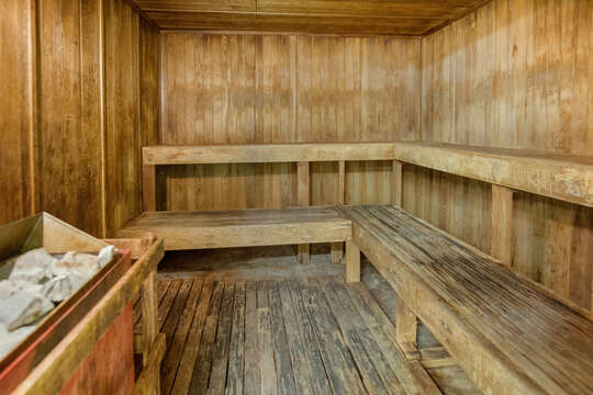 Sauna on the recreation deck