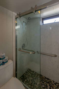 New shower with handheld shower
