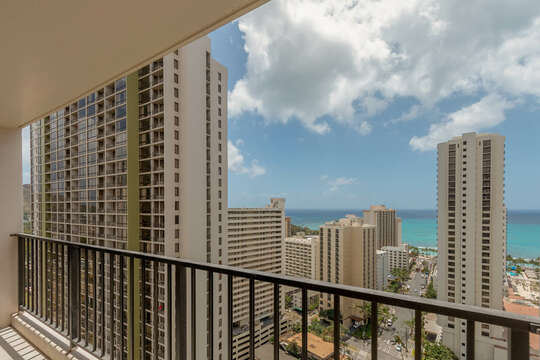 Sit back and enjoy the view from the Lanai
