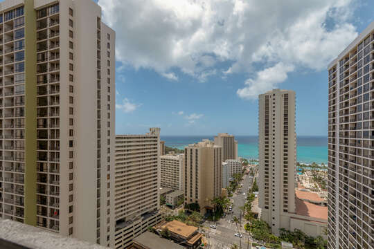 Incredible views of the ocean and Waikiki