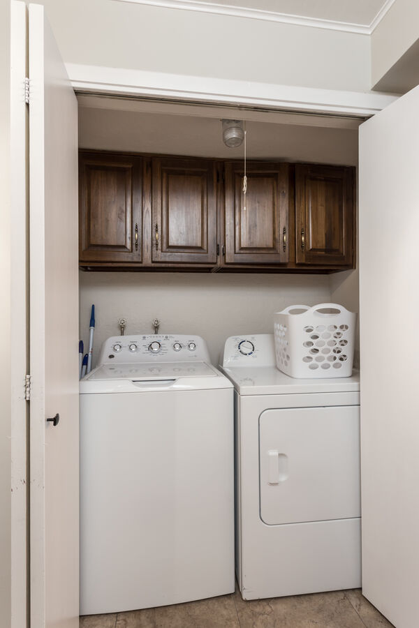 Full size washer & dryer in condo