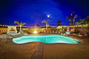 Modern shaped pool
