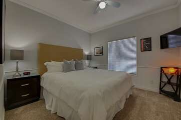 Bedroom 3. King size bed, TV