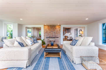 Family Room Overlooking Lake Michigan (Fireplace Not Operational)